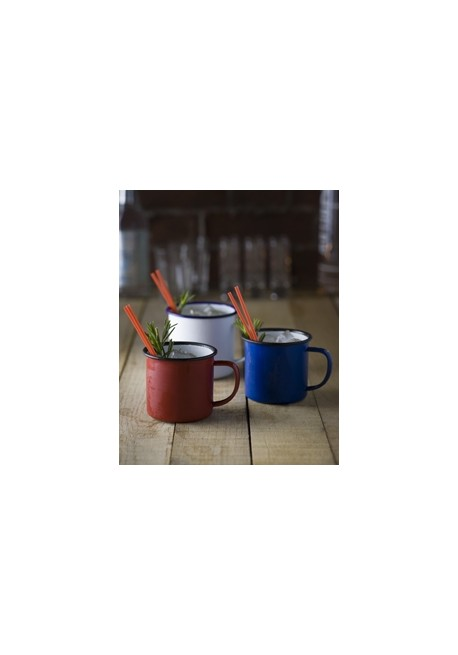 Red Enamel Mug