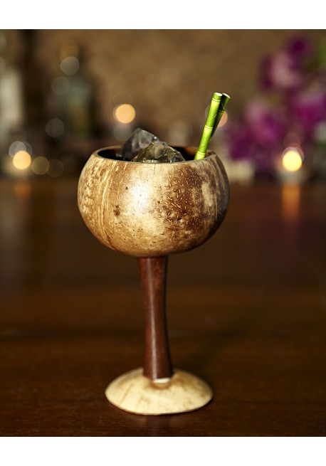 Calice in legno di cocco tiki mugs pro bar for Arredamento tiki