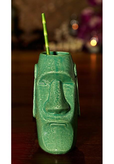 Tiki Mug Moai Verde
