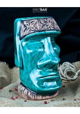 Tiki Mug Moai Turchese