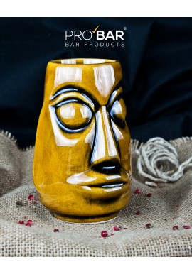 Tiki Mug Moai Marrone