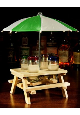 Pic Nic Table Shot Holder