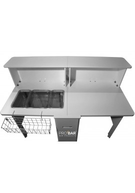 Bancone Bar Portatile con Workstation
