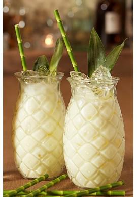 Bicchiere Ananas Decorato