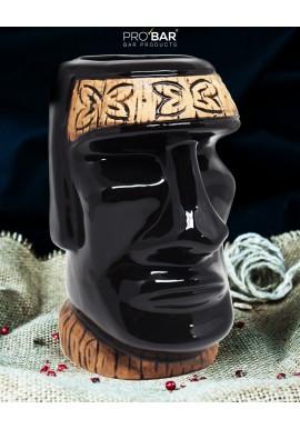 Tiki Mug Moai Black