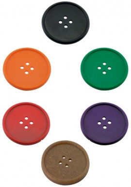 Sottobicchiere Bottone Colori Vari